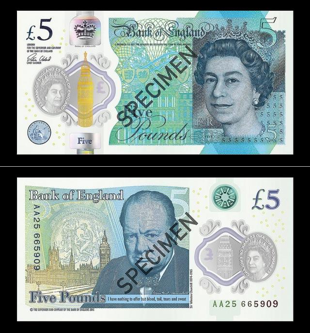 Деньги из пластика: В Великобратинии выпустили новую банкноту